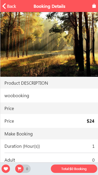 ng2 Ionic3 Integration with Woocommerce Booking App